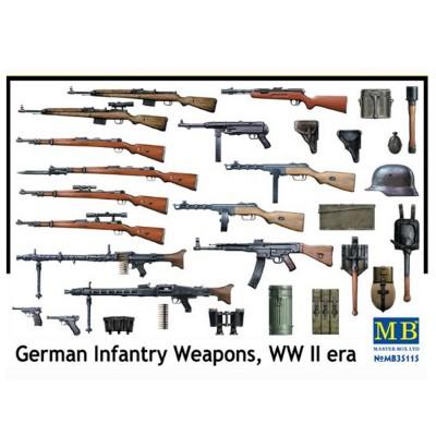Accessoires militaires 2ème Guerre mondiale : Set armes et matériel d'infanterie allemande - Masterbox-MB35115