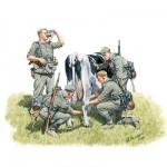 Figurines 2ème Guerre Mondiale : Collecte de lait: Front Ouest 1940