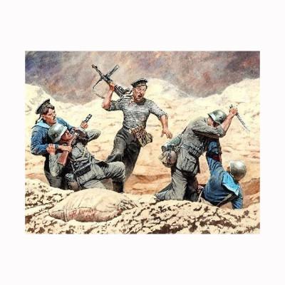 Figurine militaires Combat marins soldats soviétiques contre soldats allemands 1942 - Masterbox-MB35152