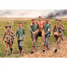 Figurines 1ère Guerre Mondiale : Soldats anglais et allemands, bataille de la Somme 1916