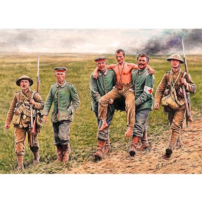 Figurines 1ère Guerre Mondiale : Soldats anglais et allemands, bataille de la Somme 1916 - Masterbox-MB35158