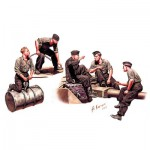 Figurines 2ème Guerre Mondiale : Equipage allemand de char Tigre 1943