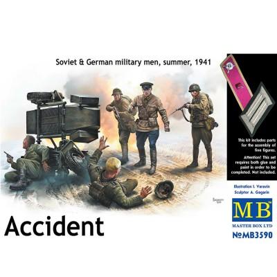 Figurines 2ème guerre mondiale : L'accident, opération Barbarosa été 1941 - Masterbox-MB3590