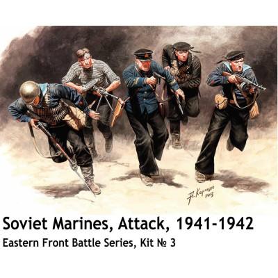 Figurines 2ème Guerre mondiale : Les marins soviétiques attaquent 1941-1942 - Masterbox-MB35153
