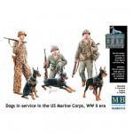 Figurines 2ème Guerre mondiale : Service cynophile du corps des US Marines