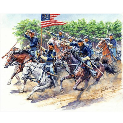 Figurines Guerre de Sécession : 8TH Pennsylvania Cavalry Regiment, Bataille de Chancellorsville - Masterbox-MB3550