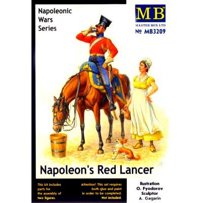 Figurines Guerres napoléoniennes : Lancier rouge de Napoléon - Masterbox-MB3209