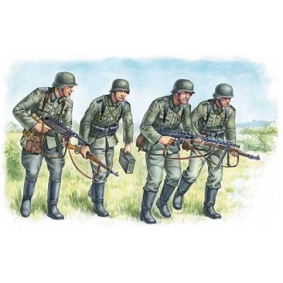 Figurines 2ème Guerre Mondiale : Infanterie allemande 1939-1942 - Masterbox-MB3513