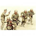 Figurines 2ème Guerre Mondiale : Infanterie deutsches Afrika Korps à l'assaut 1942