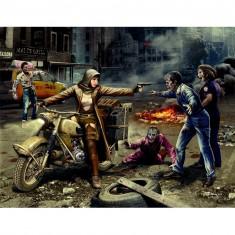 Maquette figurines : Chasseurs de zombie : La route de la liberté
