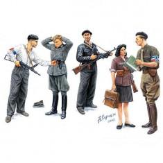 Figurines 2ème Guerre Mondiale : Maquis: Résistants français 1944