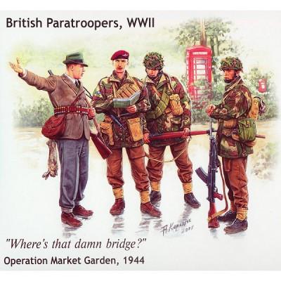 Figurines 2ème Guerre Mondiale : Parachutistes britanniques: Opération Market Garden 1944 - Masterbox-MB3533