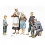 Figurines 2ème Guerre Mondiale : Paysans Europe Centrale 1941-1945