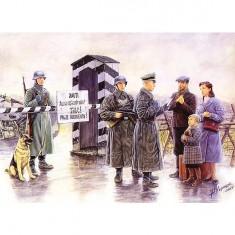Figurines 2ème Guerre Mondiale : Point de contrôle allemand