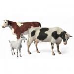 Figurines 2ème Guerre Mondiale : Set bétail ovins et bovins