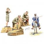 Figurines 2ème Guerre Mondiale : Tankistes allemands Afrika Korps et civil arabe