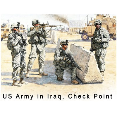 Figurines militaires : US check point : Irak 2010 - Masterbox-MB3591