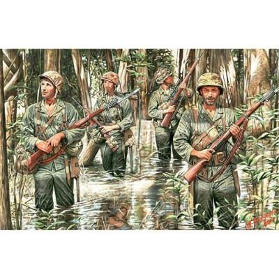 Figurines 2ème Guerre Mondiale : US Marines à Guadalcanal 1942 - Masterbox-MB3589