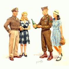 Figurines 2ème Guerre Mondiale : Victoire en Europe 1945