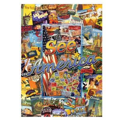 puzzle 1000 pi ces p le m le etats unis d 39 am rique puzzle master pieces rue des puzzles. Black Bedroom Furniture Sets. Home Design Ideas