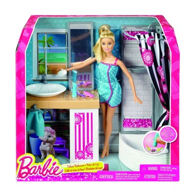 barbie salle de bain deluxe mattel magasin de jouets pour enfants. Black Bedroom Furniture Sets. Home Design Ideas