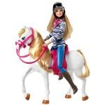 Poupée Barbie et son cheval