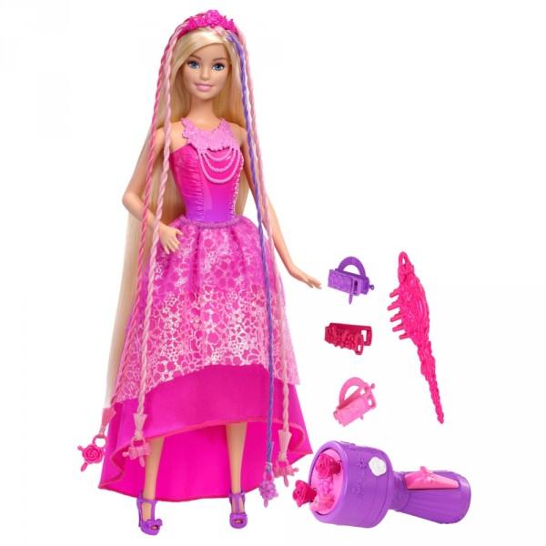 Poup e barbie princesse tresses magiques jeux et - Barbie princesse des neiges ...