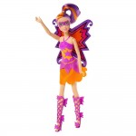 Poupée Barbie Super héros : Madison en tenue violette et orange