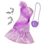 Vêtements pour poupée Barbie : Tenue de soirée : Robe couleur parme