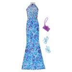Vêtements pour poupée Barbie : Tenue de soirée : Robe de soirée bleue et violette