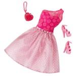 Vêtements pour poupée Barbie : Tenue de soirée : Robe rose et fuchsia