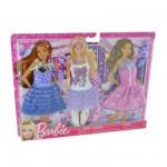 Vêtements pour poupée Barbie 3 Tenues de loisirs Fashionistas : Pour aller danser