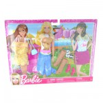 Vêtements pour poupée Barbie 3 Tenues de loisirs Fashionistas : Pour un safari