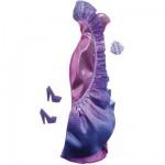 Vêtements pour poupée Barbie Fashionistas : Robe de soirée violette à volants