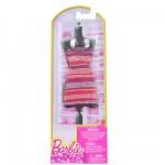 Vêtements pour poupée Barbie Robe fabuleuse : Robe rouge rayée argent