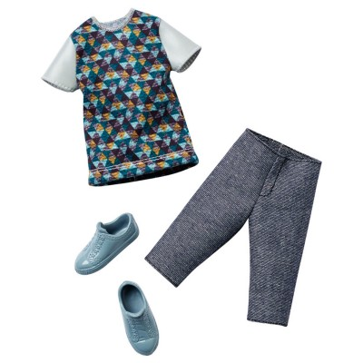 Vêtements pour poupée Ken : Tenue : Tshirt et pantacourt - Mattel-CFY02-DHB39