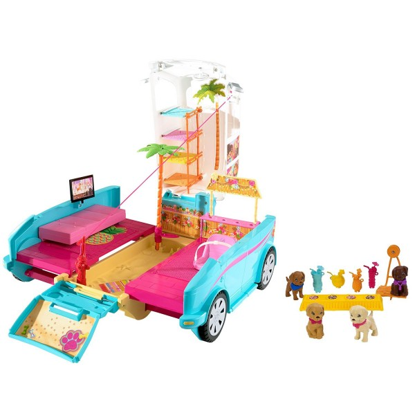 voiture barbie 4x4 transformable des chiots jeux et jouets mattel avenue des jeux. Black Bedroom Furniture Sets. Home Design Ideas