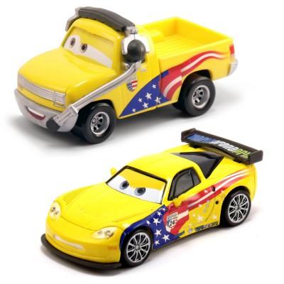 voitures cars coffret 2 v hicules john lassetire et jeff gorvette jeux et jouets mattel. Black Bedroom Furniture Sets. Home Design Ideas