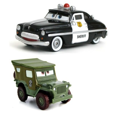 voitures cars coffret 2 v hicules sh rif et sergent jeux et jouets mattel avenue des jeux. Black Bedroom Furniture Sets. Home Design Ideas