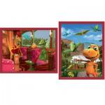 Puzzle 2 x 25 pièces : Dino Train : La cascade