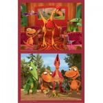 Puzzle 2 x 25 pièces : Dino Train : Vérification des tickets