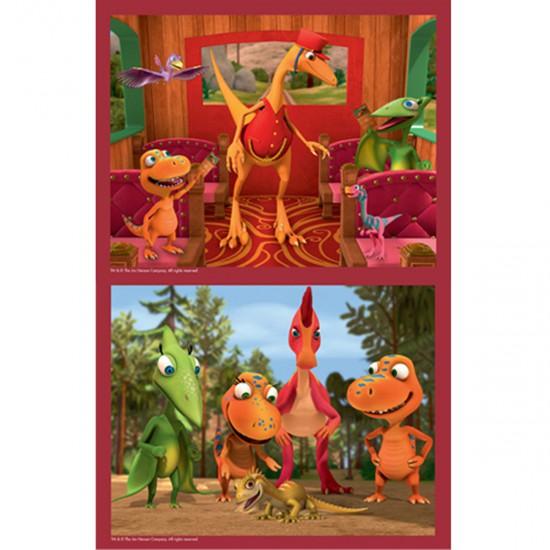 Puzzle 2 x 25 pièces : Dino Train : Vérification des tickets - MB-48868-48883-48832