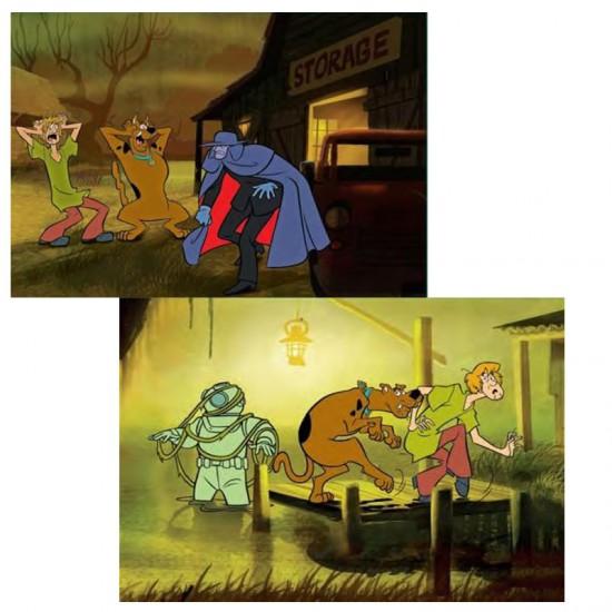 Puzzle 2 x 35 pièces : Scooby Doo, Strange man et le plongeur fantôme - MB-A3592-A3607
