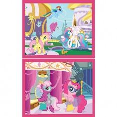 Puzzle 2 x 35 pièces - Mon petit poney : Le bal masqué et Canterlot