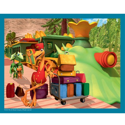 puzzle 45 pi ces dino train porte bagages mb jeux magasin de jouets pour enfants. Black Bedroom Furniture Sets. Home Design Ideas