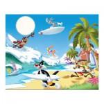 Puzzle 60 pièces : Looney Tunes, surf sur la plage