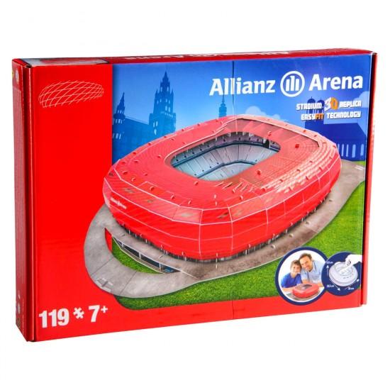Puzzle 3D 119 pièces : Stade de foot : Allianz Arena (Bayern de Munich) - Megableu-49001