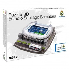 Puzzle 3D 160 pièces : Stade de foot : Santiago Bernabéu (Real Madrid)