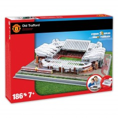 Puzzle 3D 186 pièces : Stade de foot : Old Trafford (Manchester United)