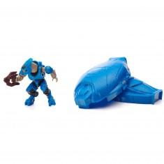 Megabloks Halo : Capsule d'atterrissage avec figurine métallique : Elite bleu métallisé